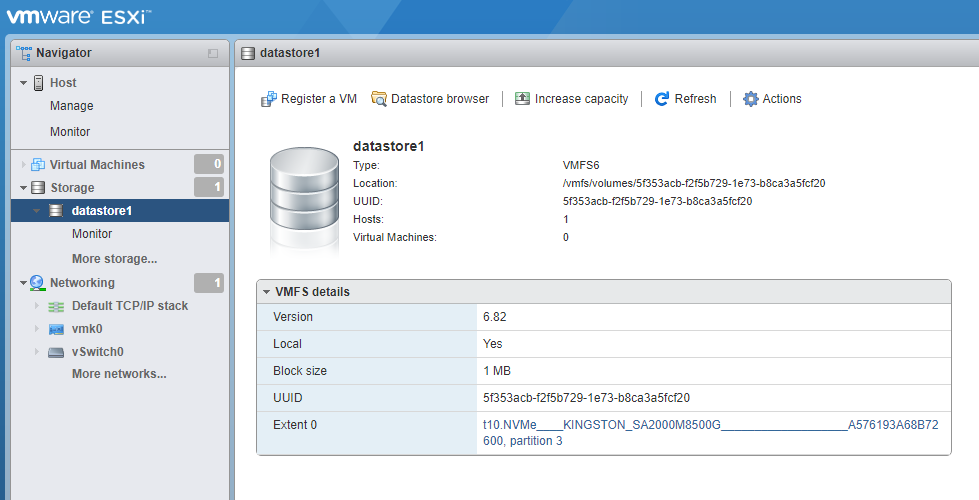 Booting ESXi on a Dell R720 from an NVMe Drive